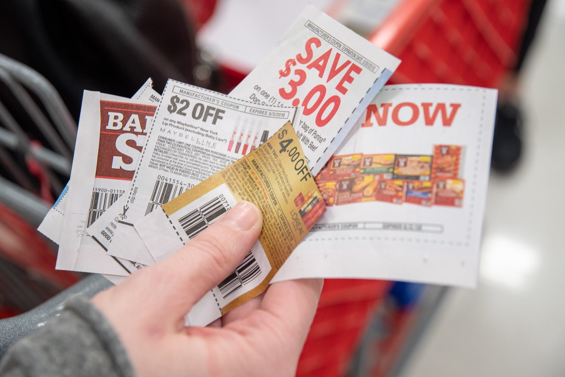 different coupons